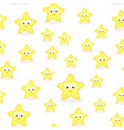 seamless pattern with cartoon starfish vector image vector image
