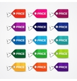 set colorful price tags vector image