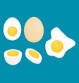 set of eggs simple flat design vector image