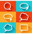 set speech bubbles in flat design style vector image