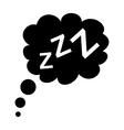 Sleep black icon vector image vector image