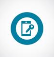 smartphone lock icon bold blue circle border vector image vector image