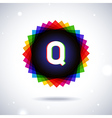 Spectrum logo icon Letter Q vector image
