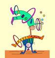 speech clowns funny circus a pair acrobats vector image vector image