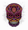 stylized skull zentangle vector image