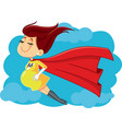 super mom cartoon vector image vector image