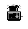 toaster black icon sign on isolated vector image vector image