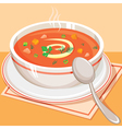 Tomato vegetable soup vector image vector image