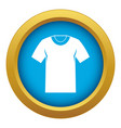 tshirt icon blue isolated vector image vector image