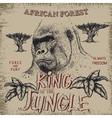 Vintage label with gorilla vector image vector image