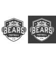 vintage monochrome football team mascot logo vector image vector image