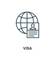 visa outline icon thin line concept element from vector image