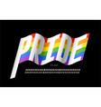 waving rainbow flag colors font vector image vector image