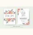 wedding floral double watercolor invite vector image vector image