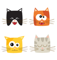 Cat emotions composite isolated on white backgroun vector image