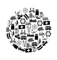 Switzerland country theme symbols icons in circle vector image