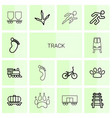 14 track icons vector image vector image