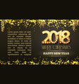 2018 new year count symbol with light bulbs vector image