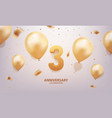 3rd year anniversary celebration background vector image vector image