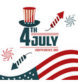 4th july independence day card greeting symbol vector image
