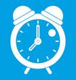 alarm clock retro classic design icon white vector image vector image