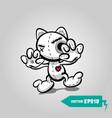 angry sewn voodoo cat helloween sticker art vector image