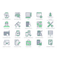 application development line icons vector image vector image