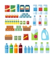 Big Set of Store Products in Flat vector image vector image