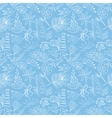 Blue travel pattern vector image vector image