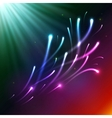 Bright colors shining neon lights vector image