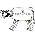 Cash cow vector image vector image