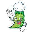 chef peas character cartoon style vector image vector image