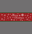 christmas seamless pattern icon vector image vector image