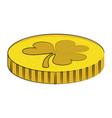 coin with clover vector image vector image