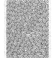 coloring page with waves pattern vector image