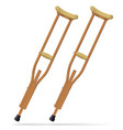 crutches medical realistic objects treatment and vector image vector image