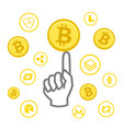 cryptocurrency business money bitcoin icon vector image vector image