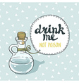 Drink me jar isolated Bottle with water