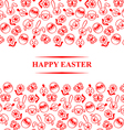easter muzzle card vector image vector image