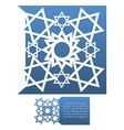 Envelope template For Laser cut vector image vector image