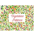 Farm vegetables seamless pattern backgrounds vector image vector image