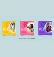 fashion social media promotion design collection vector image vector image