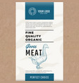 fine quality organic goose abstract meat vector image
