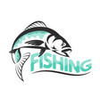 fishing silhouettes vector image vector image