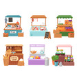 food market salesman seller character vector image