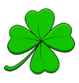 four leaf clover design isolated on white vector image vector image