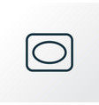frame icon line symbol premium quality isolated vector image vector image