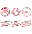 Free shipping stamps vector image
