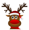 funny cartoon christmas reindeer vector image vector image