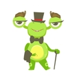 Gentleman Funny Monster With Top Hat And Bow Tie vector image vector image
